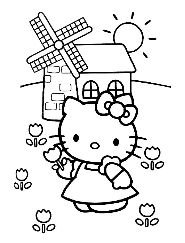 Hello Kitty Gratis Ausmalbilder Malbilder Zum Ausdrucken